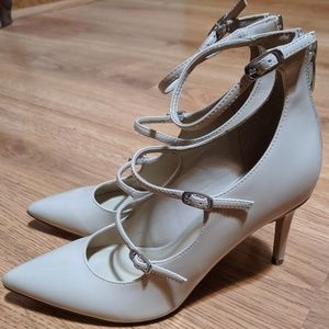 Marc Fisher Nude Patent Stiletto Heels